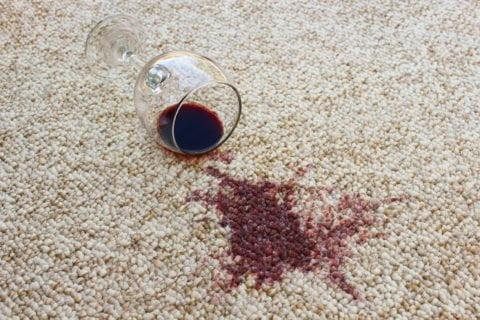 remoção de vinho
