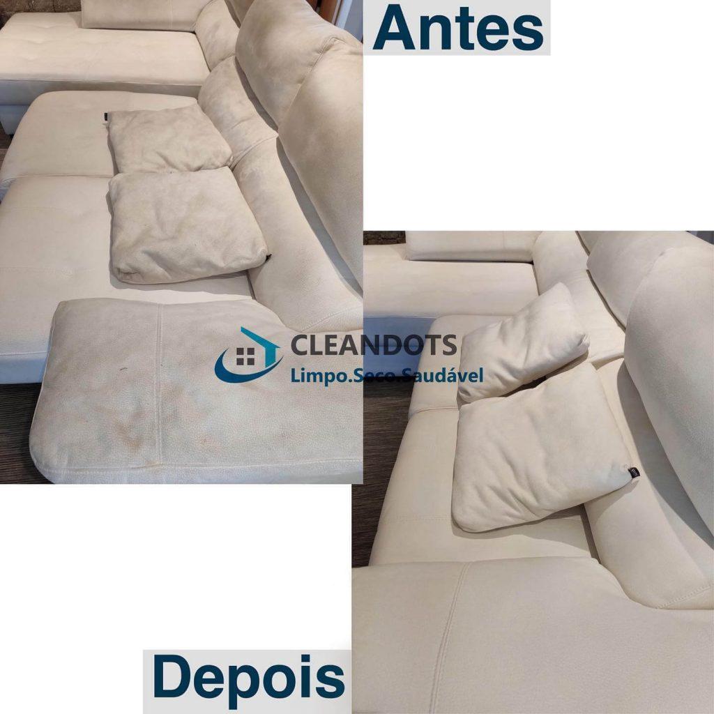 Cleandots limpeza de sofás de pele